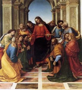 """Luca Signorelli, """"Komunia Apostołów"""""""