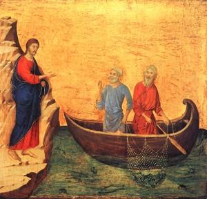 Duccio - Powolanie Piotra i Andrzeja