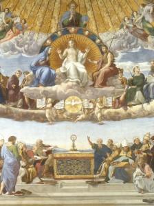 Rafael - Dysputa o Najswietszym Sakramencie detal