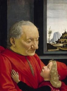 """Domenico Ghirlandaio, """"Stary mężczyzna z wnukiem"""""""