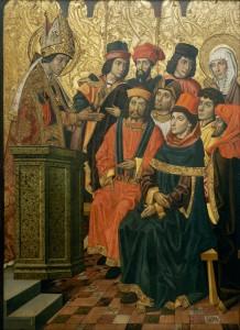 """Grupa Vergós, """"Św. Augustyn i św. Monika podczas kazania św. Ambrożego"""""""