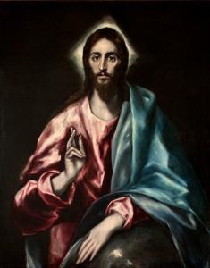 "El Greco, ""Chrystus jako Zbawca"""