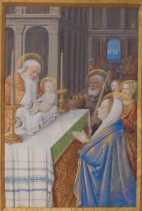 """Jean Bourdichon, """"Ofiarowanie Jezusa w Świątyni"""""""