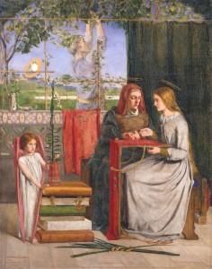 """Dante Gabriel Rossetti, """"Młodość Maryi Panny"""""""